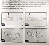 Child-Safety-Locks-ONME-6-Pack-Baby-Lock-Uses-3M-Adhesive-with-Adjustable-Strap-and-Latch-System-Easy-Installation-Safety-Baby-Latches-Ideal-for-Secures-cabinets-Refrigerators-toilet-seats-Microwaves-