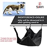 SIAYI Reversible Hanging Cat Cage Hammock Bed Waterproof Pet Hammock for Small Pets 22.414 Inch