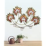 Collectible India Iron Decorative Tealight Candle Holders Flower Design Wall Hanging Showpiece Gift ~ Home Decor...