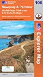 Ordnance Survey Newquay and Padstow (OS Explorer Map): Wadebridge, Port Issac & St Columb Major. Showing part of the South West Coast Path