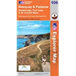 Walking map for Newquay & Padstow