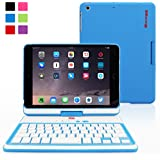 Snugg™ iPad Mini 1/2/3 Retina 360 Degree Rotatable Keyboard Case in Blue - High Quality Cover with Ultra Slim Swivel Bluetooth Keyboard - Apple iPad 360 Degree Rotating Keyboard Compatible with iPad Mini , iPad Mini 2 & iPad Mini 3 Retina - Lightweight, Quality and Easy to Set up
