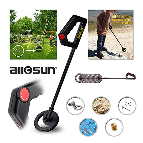 For Sale! all-sun Junior Metal Detector Beach Yard Junior Ground Metal Detector High Sensitive Treas...