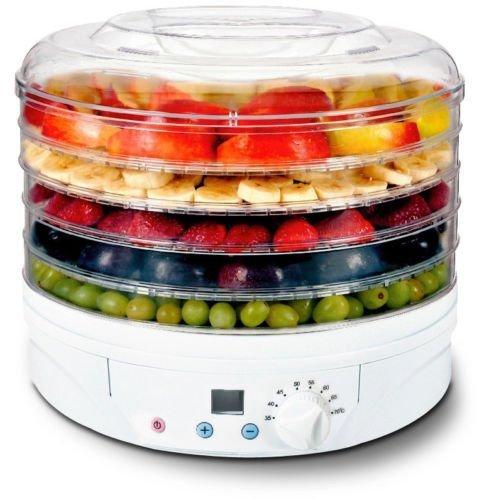 Reber Essicatore difgitale per alimenti, 230-260W, 5 scomparti, diametro 32 cm, Bianco