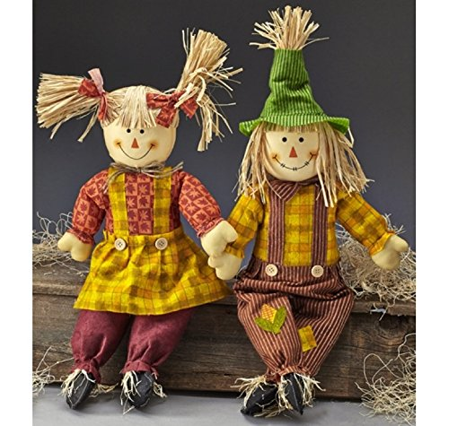 Sitting-Scarecrow-Set-Sister-Brother