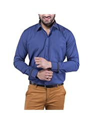 Tag & Trend Men's Slim Fit Formal Wear SAPPHIRE BLUE Shirt By TRADIX INNOVATIONS