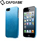 CAPDASE 日本正規品 iPhone5 Karapace Jacket Silva Satin, Blue (クリスタル・クリアー液晶保護シート、ムービースタンド、プロテクティブ・ポーチ 付属) KPIH5-SA03