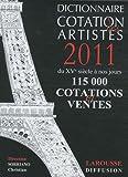 echange, troc Christian Sorriano - Dictionnaire cotation des artistes 2011