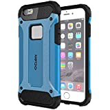 Cubix Impact Hybrid Armor Defender Case For Apple IPhone 6 Plus (Blue)