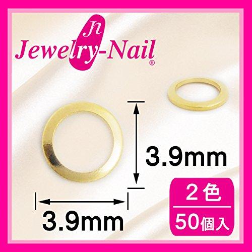 ネイルパーツ Nail Parts スタッズドーナツ 3.9mm(SSー9) 50入 ゴールド