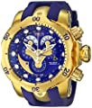 Invicta Men's 14465 Venom Analog Display Swiss Quartz Blue Watch