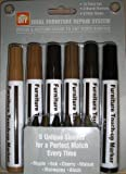 12 PIECE TOTAL FURNITURE REPAIR SYSTEM (6 REPAIR MARKERS AND 6 FILLER STICKS)