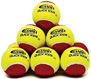 Buy Gamma Quick Kids 36' Tennis Ball (12-Ball Pack, Yellow Red) by Gamma