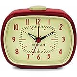 Kikkerland Retro Alarm Clock, Red