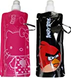 Angry Bird HELLO KITTY Foldable Collapsible Water Bottle 16 oz. &#8211; Angry Bird