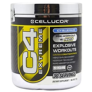 Cellucor C4 Extreme | Pre Workout Supplement Drink | Best Pre Workout Powder | Icy Blue Razz 171g - 30 servings