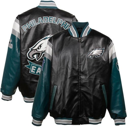 San Francisco 49ers Black Pleather Varsity Full Zip Jacket (XXXXX-Large) at Amazon.com