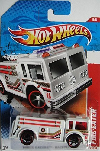 HOT WHEELS FIRE-EATER THRILL RACERSS RACEWAY '11 222/244 WHITE