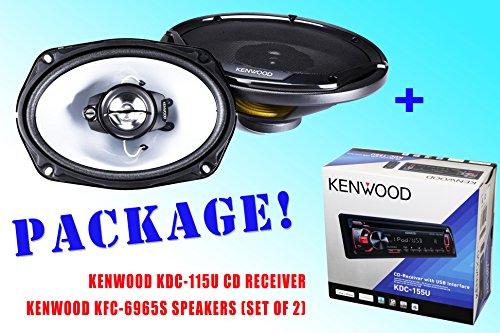 Package ! Kenwood Kdc-115U Cd-Receiver + Kenwood Kfc-6965S Speakers