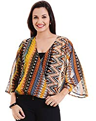 MSMB Multi Coloured Polyester Blouse Large