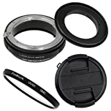 Fotodiox M-Reverse-77-Nikon-Kit RB2A 77MM Macro Reverse Ring Kit with G and DX Type Lens Aperture Control, 52MM Lens Cap and 52MM UV Protector Fits Nikon