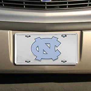 Buy NCAA North Carolina Tar Heels (UNC) Silver Super Stock Metal License Plate by Tag City