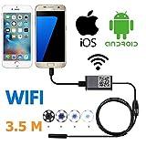 Cdeng 内視鏡Android/ iPhoneシステム対応 WIFI対応 200万画素CMOS HD 調節可能な6灯LED 9MM ライト 小型カメラ搭載 IP66 (3.5m)