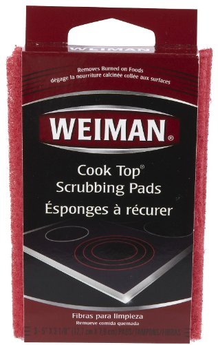 Weiman Cook Top Scrubbing Pads, 3 Pads Each (Pack of 3) (Weiman Glass Cooktop Pads compare prices)