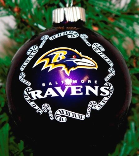 Baltimore Ravens NFL Traditional Round Glass Ornament ожерелье wind of fame hty84501 12
