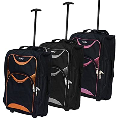 Wheeled Cabin Travel Bag Lightweight Suitcase Case Hand Luggage Trolley Holdall Cabin Bag
