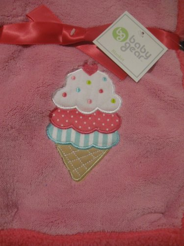 Baby Gear Ice Cream Cone Soft Baby Girl Blanket