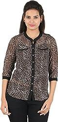 Amadeo Women's 3/4 th Sleeve Top (KRISHA29, Multicolour , Large)