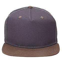 Urban Monkey Premium Plain Grey Beast Adjustable Baseball Snapback Free Size Unisex Hip Hop Cap