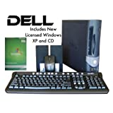 Dell 3 Ghz. Super Fast Optiplex Pro GX 1 Computer, Gigantic 750GB Hard Drive, 4GB RAM, DVD-RW Dual Layer, Intel P4 Single Core Multimedia Desktop PC, includes New Licensed Windows XP 2 Operating System and Genuine Sealed CD, SP 3