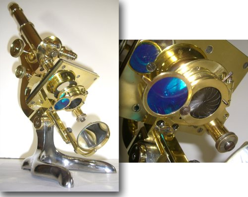 ★★★ 1909 Leitz Wetzlar Brass Microscope Antique Medical Dental Leica ★