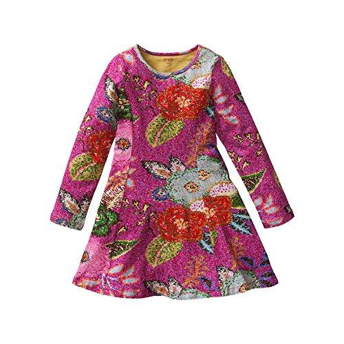 Oilily Mädchen Kleid Twirly jersey dress, Gr. 104, Mehrfarbig (Pink 38) thumbnail
