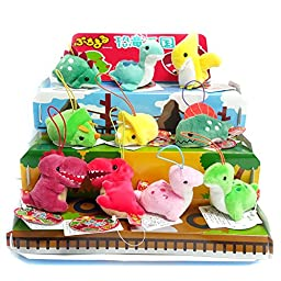 Amuse Puchimaru 12 Set of Animal Plush Collection / Ball Chain / Phone Charm / Stuffed Animal (10pc Dinosaurs)