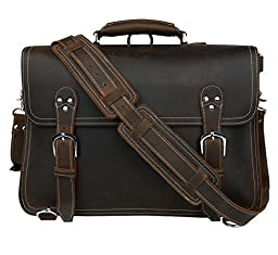 Polare Top Layer Leather Shoulder Briefcase Business Travel Bag Tote