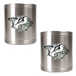 PREDATORS 2pc Stainless Steel Can Holder Set- Primary Logo