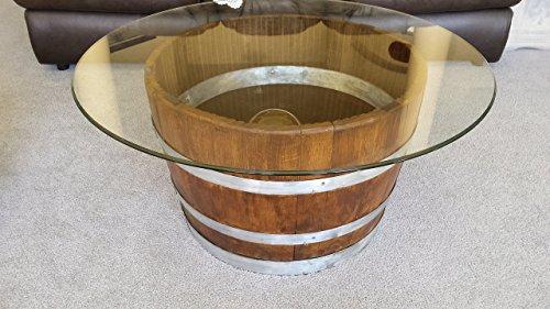 Decorative Half Wine Barrel Table With Glasstop (Wine Barrel Table Glass compare prices)