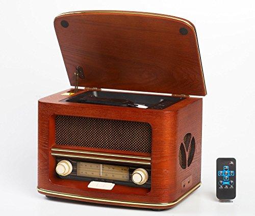Adler Unbekannt Retro Holz Design Nostalgie Anlage Radio mit CD MP3 USB Player und Aufnahme Funktion