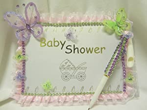 baby shower guest registry keepsake book with pen health
