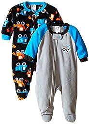 Gerber Baby-Boys Newborn 2 Pack Blanket Sleepers, Truck, 18 Months