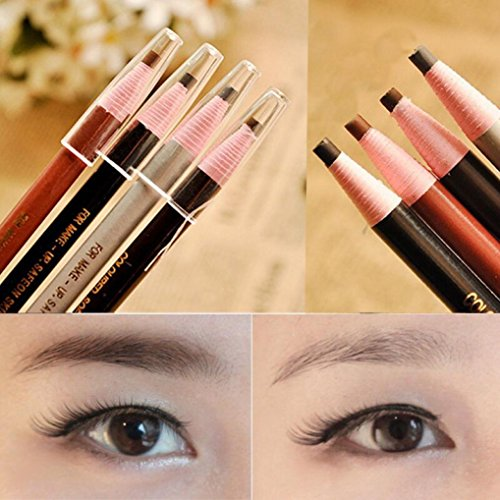 Yoyorule 4pcs Eyebrow Pencil Waterproof Natural Long lasting Enhancer Eyebrow Liner (Kiko Liner compare prices)