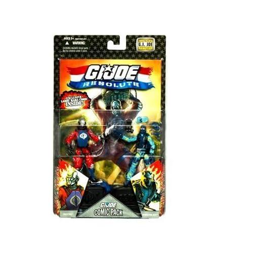 G.I. JOE Hasbro 25th Anniversary 3 3/4 Wave 8 Action Figures Comic Book 2Pack Destro vs. Shockblast by Hasbro (English Manual)