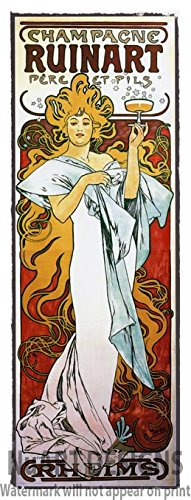 vintage-art-nouveau-advertisement-reproduction-giclee-poster-on-canvas-champagne-ruinart-1896-by-alp