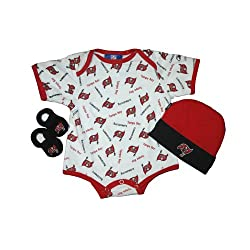 Tampa Bay Buccaneers Newborn NFL Hat, Bootie, and Onesie Gift Pack Outerstuff