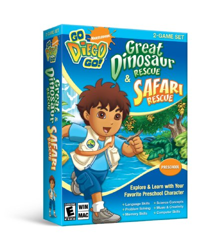 Nickelodeon Go Diego Go: Great Dinosaur Rescue & Safari Rescue (2-Game Set) [Old Version] - 1