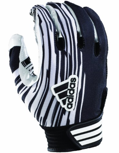 Adidas Youth AdiZero Football Receiver Glove (Black/White, Small)