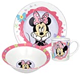 Disney Minnie Bow-Tique 3-Piece Dinnerware Set